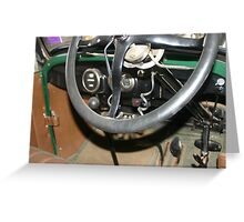 """1927 Ford """"T"""" Interior Greeting Card"""