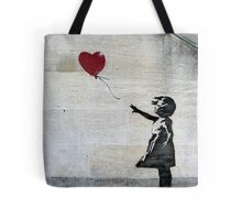 Banksy's Girl with a Red Balloon Tote Bag