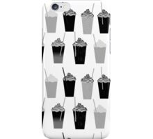Coffees - black and white iced coffee pattern print cafe mocha chocolate dessert sugar sweet minimal iPhone Case/Skin