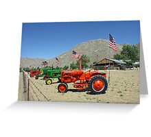 Patriotic Tractors For Sale in the Country Greeting Card