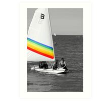 rainbow sail Art Print