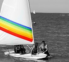 rainbow sail by Kymberly Janisch