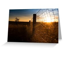 Country sunset- Queensland Australia Greeting Card