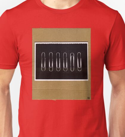Odd One Out (paper clips) Unisex T-Shirt