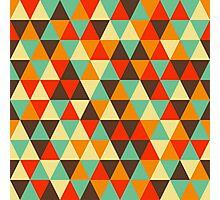 Retro geometric pattern in contrast gamma Photographic Print