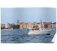 Boating in Stockholm Poster