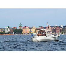 Boating in Stockholm Photographic Print
