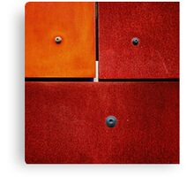1 2 3 Colorful Rust Red Canvas Print