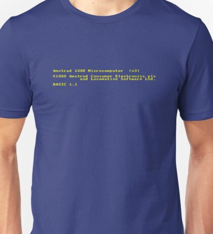 Amstrad CPC Welcome screen Unisex T-Shirt
