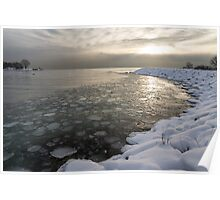 Mini Ice Floes on the Lake Poster