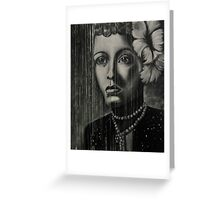 Billie Holiday - low ink Greeting Card