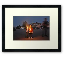 Playing With Fire-Independence Day, 2010 Framed Print