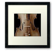 copy of Stradivarious 'Soil' 1714 (sepia) © 2010 patricia vannucci  Framed Print
