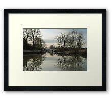 Cold Morning Reflections Framed Print