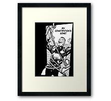 Okuyasu's constipation... Framed Print