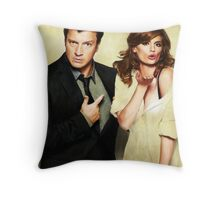 Castle & Beckett Throw Pillow