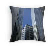 Skyscraper Canyon Throw Pillow