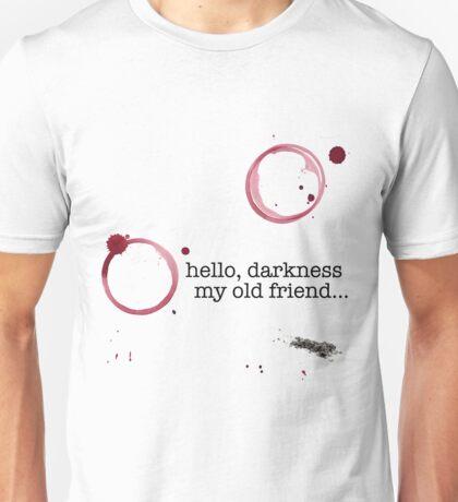 Classic verses: Hello darkness my old friend Unisex T-Shirt