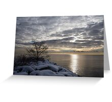 Lakeside Silver – Winter Morning Light Greeting Card
