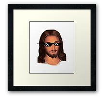 Deal with Jesus Framed Print