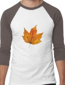 Orange Leaf Men's Baseball ¾ T-Shirt