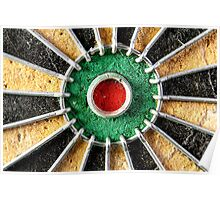 Bullseye on Dartboard Poster