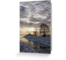 Broken Ice, Broken Clouds Greeting Card