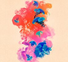 Psychedelic Ink Jellyfish Dream by Pepe Psyche