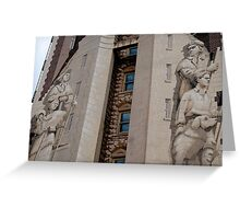 The men on the building Greeting Card
