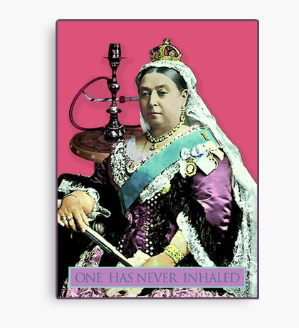 The Queen and the Hookah Canvas Print