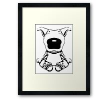 English Bull Terrier Sit Design Framed Print