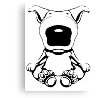 English Bull Terrier Sit Design Canvas Print
