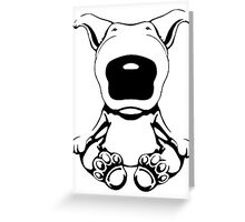 English Bull Terrier Sit Design Greeting Card