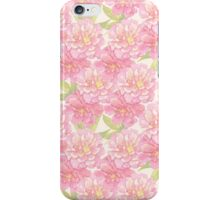 Pink peony flowers iPhone Case/Skin