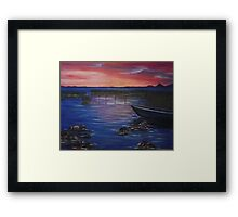 sunset over Dromod Framed Print
