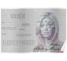 Audrey Parker type portrait Poster