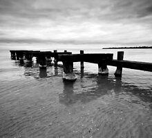Pier Ruins - Mentone by Andrew Widdowson