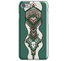 Pattern with octopus and deer skull iPhone Case/Skin
