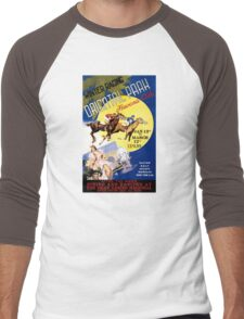 Havana Horse Racing Vintage Travel Poster Restored Men's Baseball ¾ T-Shirt