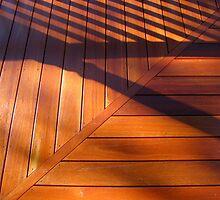 Shadows on a new-old veranda by Ian Ker