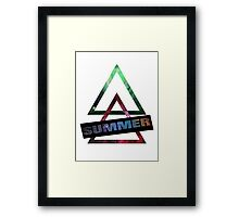 Summer and Triangles Framed Print