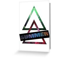 Summer and Triangles Greeting Card