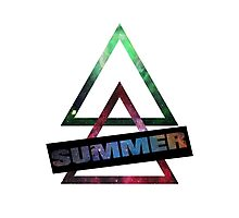 Summer and Triangles Photographic Print