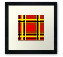 Black Yellow and Red Tartan Check Design  Framed Print