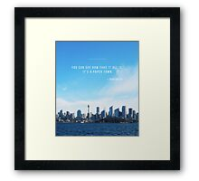 Paper Towns John Green Framed Print