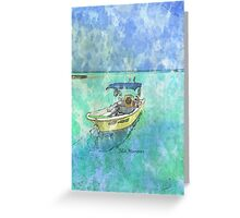 Dive Boat at Avalon Bridge, Isla Mujeres Greeting Card