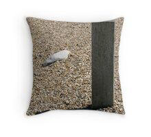 Still life with shadow on shingle Throw Pillow