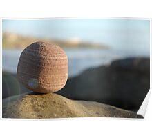 Balancing Rock at Sunset Poster