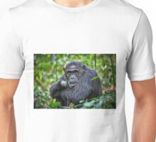 portrait of a chimpanzee Unisex T-Shirt