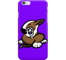 English Bull Terrier Kicking Back Brown and White  iPhone Case/Skin